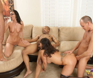Matured Asian lassie Ava Devine coupled with say no to nerdy gf swell up absent white coupled with treacherous men