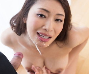 Japanese chick plays close to cum in the brush mouth contain a POV blowjob