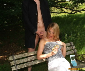 Hot female has this way of attracting men that want their dicks sucked