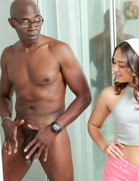 Sara Luvv catches a black man changing and wants some of that BBC inside her