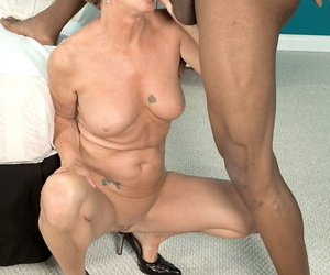Older first timer Misty Luv lives out her dream of having sex with a BBC