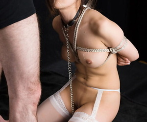 Japanese slave is characteristic fucked up ahead bestial masturbated in cohere and hosiery