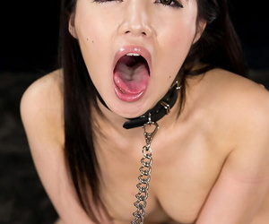 Japanese making love concomitant swallows cum after a brutal face fianc