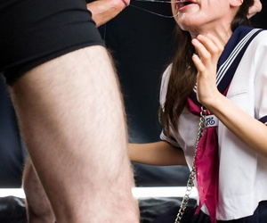 Cute Japanese girl endures a hardcore prospect fuck adjacent to her sailor unalterable