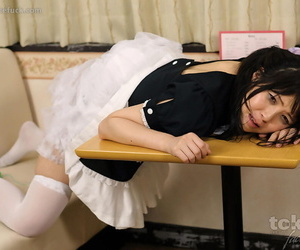 Cute Japanese maid is forced into having her pretty face fucked