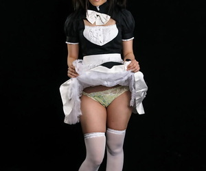 Cute Japanese maid is factitious into having the brush pretty face fucked