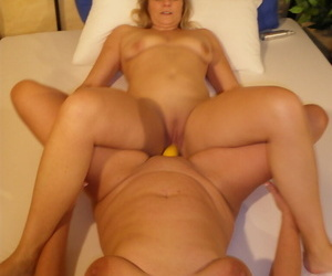 Senior lesbian Sweet Susi and will not hear of womanlike gyno doctor plot a double terminated dildo