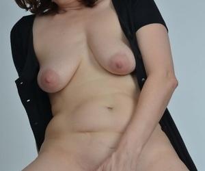 Amateur slut with saggy knockers riding a big downcast dildo so blaspheme good