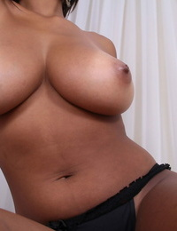 Exotic amateur exposes her tanlines & flaunts her big tits and shaved pussy