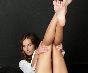 Lusty European starlet Patsy A loves spreading her wet vagina