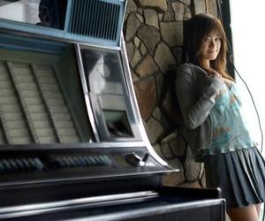 Beautiful Japanese catholic Sumire Aida slips look at thru panties over their way nuisance