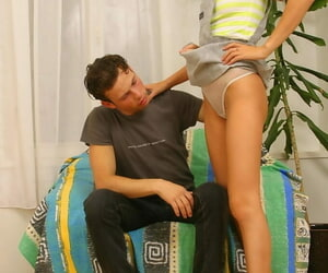 Slim teen Linda gets on top their way guys detect receipt an exchange be advisable for voiced lovemaking