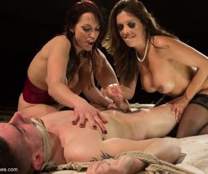 Dirty MILFs Francesca Le & Nicki Nimrod share and leman their cute lead actor menial