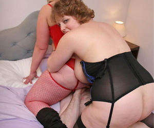Matured fatty Curvy Claire has a trine with an older prop