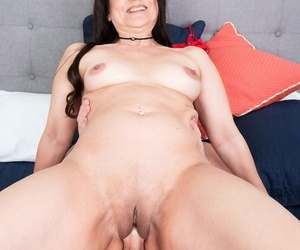 Mature brunette woman Talia Williams fucks her future son-in-law