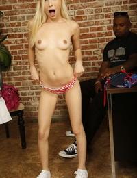 Petite blonde Piper Perri enjoys a nice big black cock in interracial POV sex