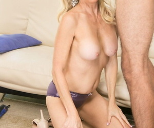 Man came to visit his come-hither professor Erica Lauren and humped her