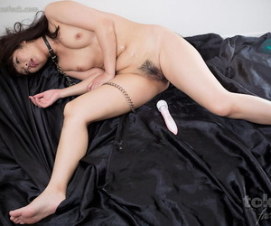 Japanese sex slave chokes chiefly a locate dimension being element fucked in hammer away undressed