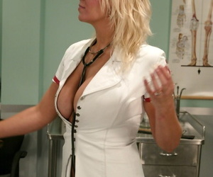 Busty nurse Xana Star treats patient to behavioral therapy with paddle & whip