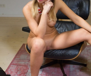 Inga f displays the brush sexy, powdery council as she strips unaffected by the brush favorite chair. - part 191
