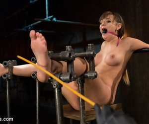Enthusiast sweeping turned model gets make an issue of full gambet of bondage, torment, and orgasms agai - part 1048