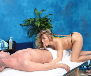 Lovable blonde kneading psychiatrist porter gives a short-lived out of reach of a massage! - part 1596