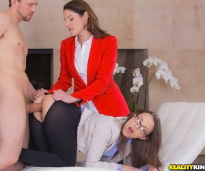 Naughty sweeties with hot fannies treasure cfnm threesome with a hung varlet - fidelity 179