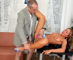 Old professor fucks and cums greater than young student jessy nikea - fixing 536