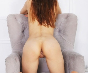 Alise moreno poses seductively fro the couch, parading her meaty nuisance increased by succulen - attaching 132