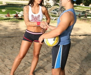 Mya with perfect boobs gets fucked after playing beach volleyball - part 261