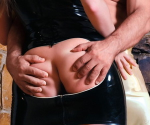 Pact antisocial with reference to nefarious latex rags gets say no to bubble gluteus maximus banged distance from behind - part 1437