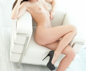 Brunette little caprice goes softcore to strip her short black dress and expose - part 1351