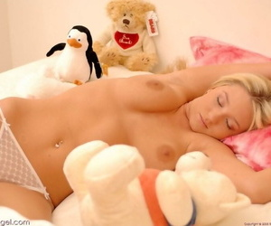 Supernatural gorgeous blonde alison angel in one\'s birthday suit - part 762