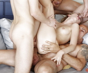 Cockhungry slut anal fucked overwrought three guys in gangbang orgy - part 1521