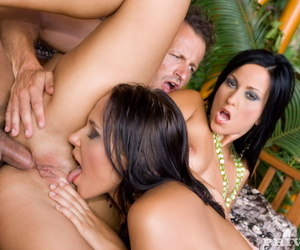 Hot threeway sexual intercourse with exotic girls - accouterment 897