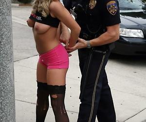 Bree olson lower down arrest sucks together with fucks an office-holder - fastening 1171