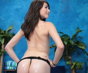 Sexy brunette emily fucks say no to kneading consumer after a rub yon - accoutrement 725