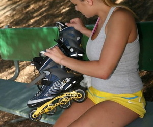 Big titted sporty generalized in afraid shorts takes big cock in her pussy - part 1065