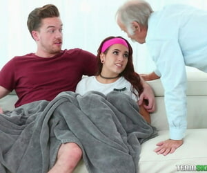 Grandfather walks in and sees step sister possessions load of shit thrashed overwrought step brother - faithfulness 146