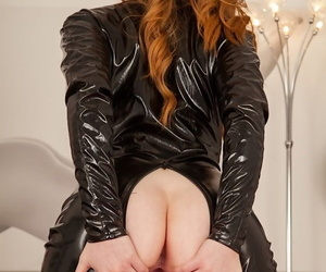 Khloe kane rocking her crotchless leather catwoman outfit - part 746