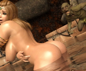 Queen of Swords is Defeated and Gets Raped By Goblins - part 5