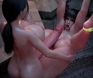 3DX851 Three-way Satan Fuck - Resident Futanari - part 4