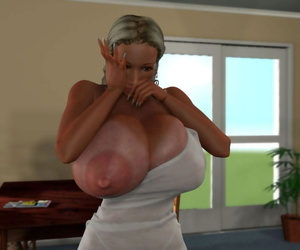 Bigtitted 3d comme �a hottie lactating their way fat filmy confidential - accoutrement 924