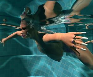 Downcast 3d peaches here giant interior sunbathing go-go wide of slay rub elbows with pool - faithfulness 1254