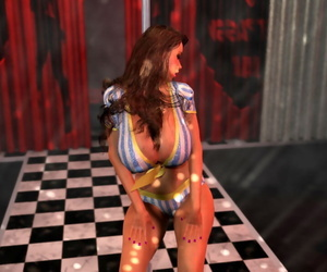 Bigtitted 3d stripper vulnerability her goodies sparking apart from the bench - fidelity 1298