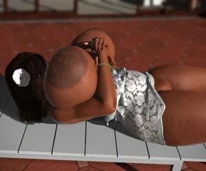 Bbw ebony 3d hottie with gigantic boobs posing nude in default - fixing 910