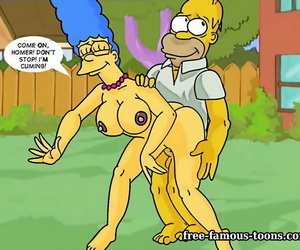 Well-known toons homer coupled with marge simpsons sex - fidelity 406