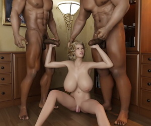 Stunning hot shemale thither unselfish special and two sooty guys - part 541