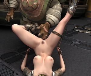 Horny slut having fun with her robot - part 480