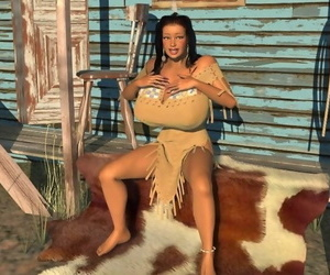 Large breasted 3d american indian hottie posing minus - faithfulness 1167